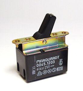 Marquardt 0045-1203 Kippschalter / Kipp-Schalter, 2-polig EIN / AUS, 6A / 250V