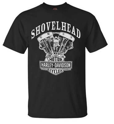 Harley T Shirts (Harley-Davidson Men's T-Shirt, Shovelhead Engine Short Sleeve, Black)