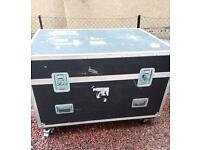 Flight / storage case hard bodied 48ins.x34ins.x32ins. 4 locks