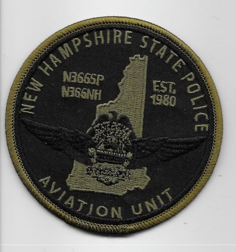 New Hampshire State Police Aviation Neat Subdued Patch  NH