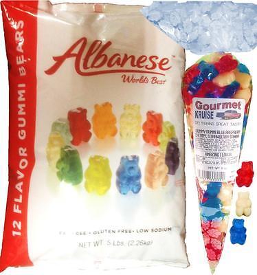 Gummy Bears 12 Flavor 5lb Bag With Red White Blue 11oz Gourmet Kruise® Bag