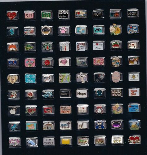 Italian charm MIXED AND ASSORTED  wholesale Lot  100 Piece #K100