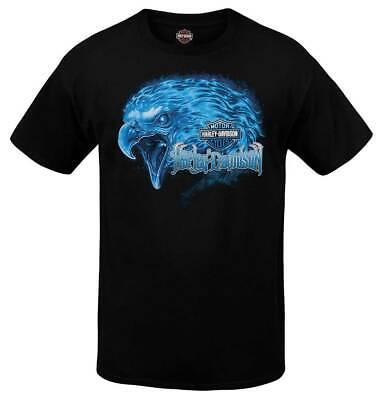 Harley-Davidson Men's Burning Eagle Crew-Neck Short Sleeve T-Shirt - Black