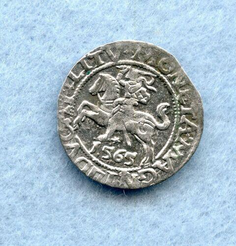 LITHUANIA ~ 1565 ~ 1/2 GROSCHEN ~ SILVER ~ CH AU