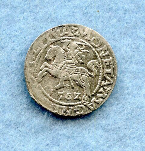LITHUANIA ~ 1562 ~ 1/2 GROSCHEN ~ SILVER ~ XF