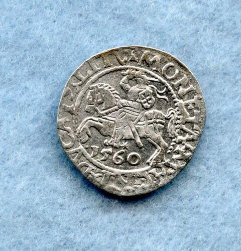 LITHUANIA ~ 1549 ~ 1/2 GROSCHEN ~ SILVER ~ AU