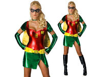 Adult Ladies Sexy Robin Superhero Outfit DC Comics