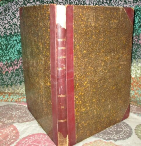 Antique 1901 DRUGGIST CIRCULAR Hardbound Book 12 Month Issues FORMULARY Medical