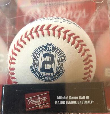 Rawlings ROMLBDJC Derek Jeter Last Game Baseball Official MLB Ball In Cube! Final Game Baseball