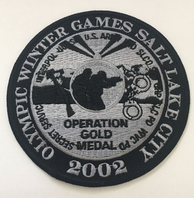 2002 SALT LAKE CITY UT WINTER OLYMPICS LAW ENFORCEMENT OPS GOLD MEDAL PATCH NEW