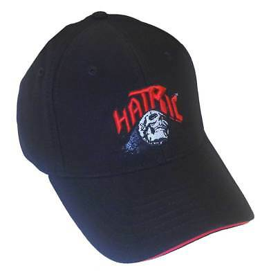 Hatric Hockey Glory Skull Uni-Fit Construction Fitted Baseball Cap, Black Uni Fitted Cap