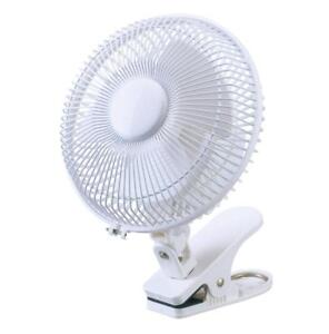 Daewoo Electric Portable Air Cooling White 6'' inch Desktop Clip On Desk Fan