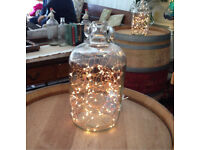 Fairy light jars/ Christmas/ party/ wedding table decorations