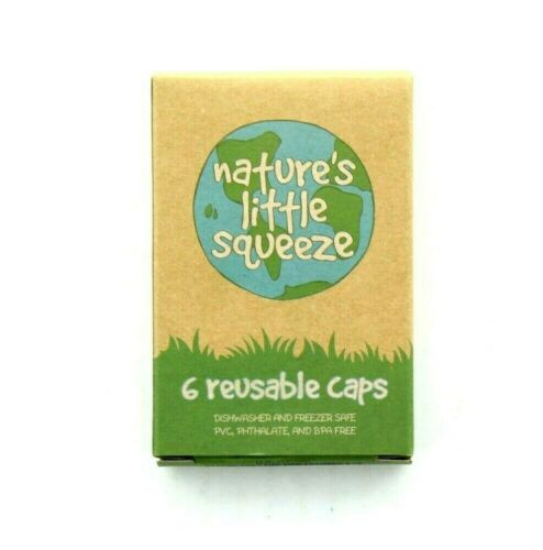 WeeSprout Reusable Caps Natures Little Squeezer, White, 6 per Box