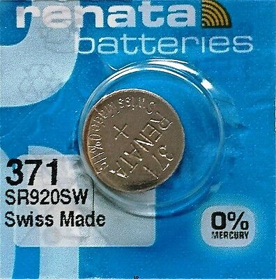 371 RENATA SR920SW D370 Watch Battery Free Shipping Authorized Seller