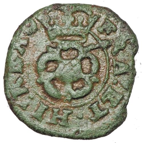 ENGLAND. Charles I, Rose Farthing, 1625-1642 - $10.50