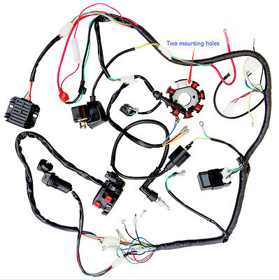Complete Wiring Harness CDI Magneto Stator COIL RECTIFIER Regulator 200cc 250cc