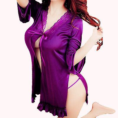 Sleepwear-G-string-Women's-Sexy-Gowns-Babydoll-Lace-Nightwear-Lingerie-Underwear