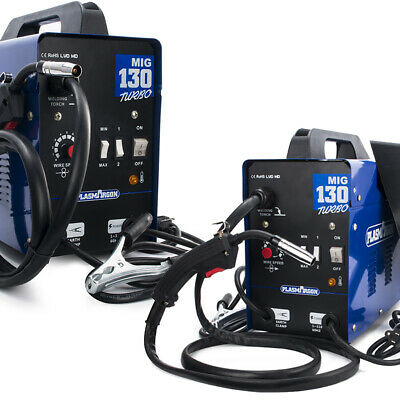 Mig Welder Mag Gassless Welding Machine No Gas Igbt Inverter 130a Welder 110v