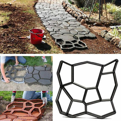 Building Paths Mold Country Stone Concrete Pattern Walk Stepping Maker  Mould DIY