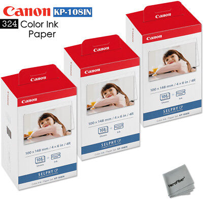 Canon Selphy CP900 Ink and Paper - 324 sheets with 9 toners CANON KP-108IN