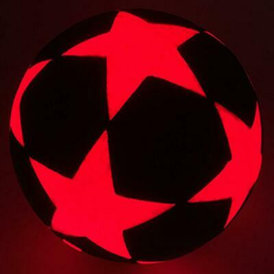 GlowCity Light Up illuminate LED Soccer Ball Star Design - Battery Operated