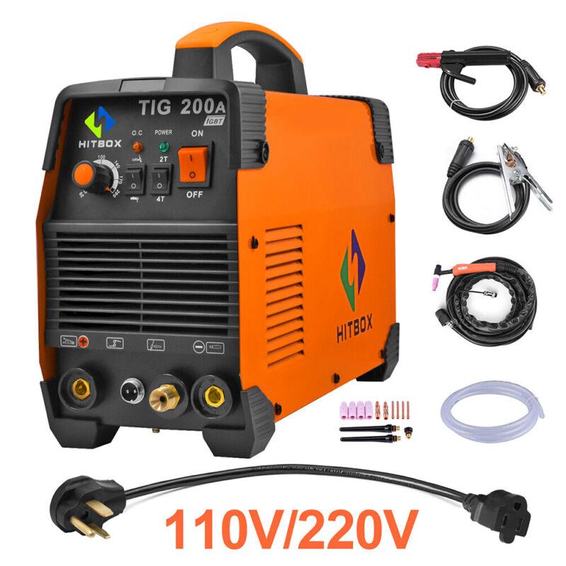 HITBOX TIG Welder 110V/200V Dual Voltage High Frequency TIG200A Welding Machine