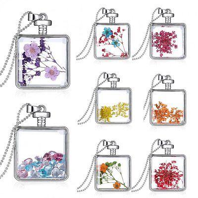 Flower Pendant Locket - Natural Dried Flower Locket Pendant Necklace Long Sweater Chain Women Jewelry