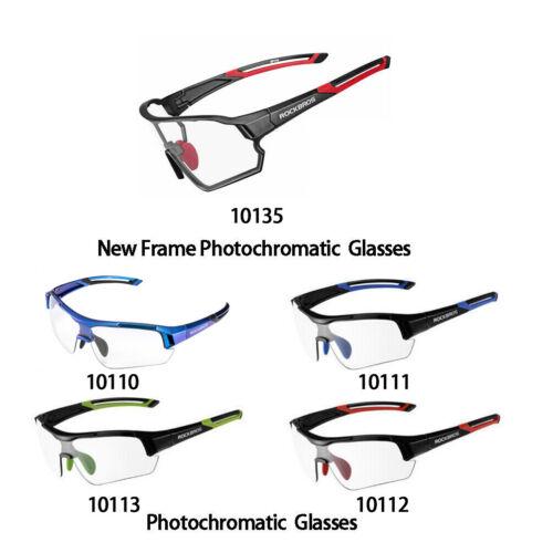 ROCKBROS Cycling Photochromic Full Frame Glasses Sport Sunglasses Myopia Frame