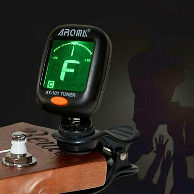 Digital Chromatic LCD Clip-On Electric Tuner Fits for Bass Guitar Ukulele Violin Guitars & Basses