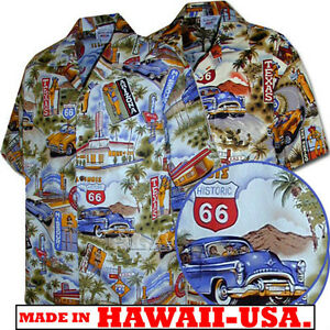 classic cars route 66 mens c shirts 410 3644 new 100