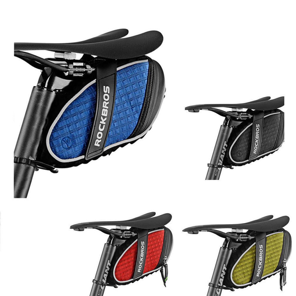 ROCKBROS Bike Rainproof Saddle Seat Bag 3D Shell Reflective