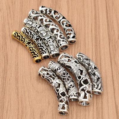 5pcs/pack Metal Hair Braid Dread Dreadlock Bead Clip Cuff Jewelry Hair Supplies
