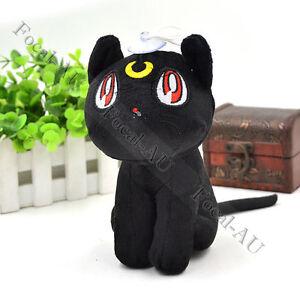 Anime Sailor Moon Soft Plush Doll Toy Black Cat Luna Anime Cosplay 1PC