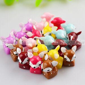 New-3D-DIY-Crafts-Decoration-Cute-Sika-Deer-Ornaments-FlatBack-Resin-Cabochon