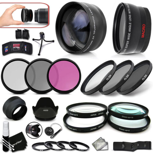 PRO 58mm Lenses + Filters ACCESSORIES KIT f/ Canon EOS XT