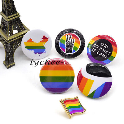 Rainbow Gay Lesbian LGBT Pride Symbol Flag Pin