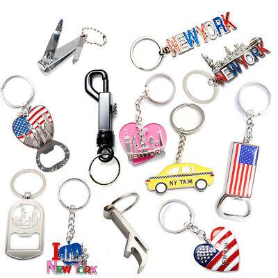 (Pack of 12) New York NYC NY Keychain Metal Key Ring Bundle Souvenir Gift Set  - Key Set Bundle
