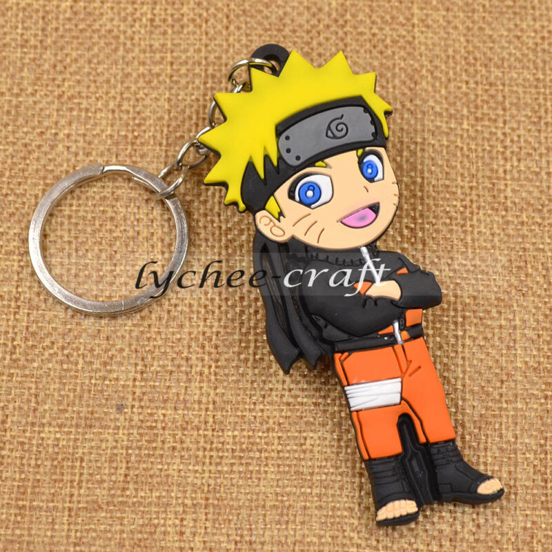 Cute Japan Anime Naruto Uzumaki Keychain Bag Car Key Ring Fan Student Gift New