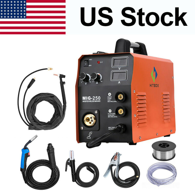 HITBOX 4in 1 MIG Welder 220V 200A Gas Gasless ARC Lift TIG MIG Welding Machine