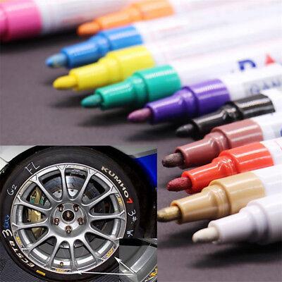 12PCS Acrylic Paint Marker Pens Permanent Art Rock Metal Glass Pebble Waterproof