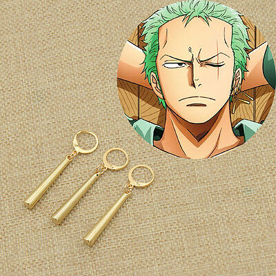 Fanmade Damen Unisex Ear Clip Anime One Piece Zoro Ohrring Ohrschmuck Cosplay Unisex One Piece