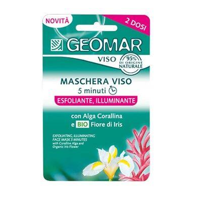 3 PC. GEOMAR MÁSCARA DE LA CARA EXFOLIANTES ILUMINANDO 2 dosis x 7,5 ML CAD