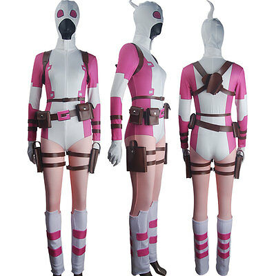 Deadpool Costume For Women (Women Deadpool Gwenpool The Unbelievable Cosplay Halloween Costume)