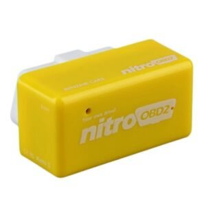 Nitro OBD 2 II Plug and Drive Chip Tuning Box Interface For Benzine Yellow DHL