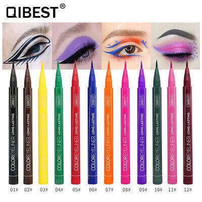 12 Colors Eyeliner Liquid Pen Waterproof Easy To Wear Make Up Matte Eye Liner