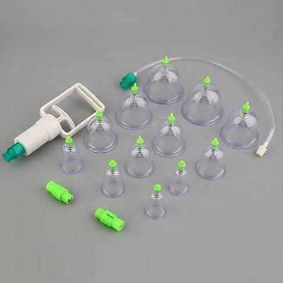 Schröpfen Akupunktur Set 12 Schröpfgläser Vakuum Massage Akupunktur Cupping DE