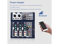 4 Channel Professional Live Mixer Mixing Console 3-Band EQ USB 48V Phantom MU - Like New