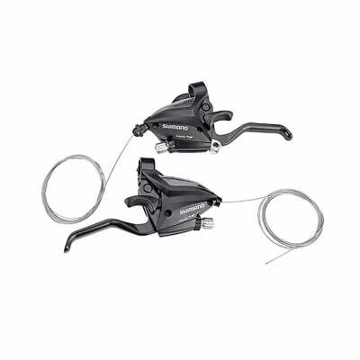 Outdoor Bike Brake Shifters Set Brake Levers & Shift Levers EF500-7 3x7S Black