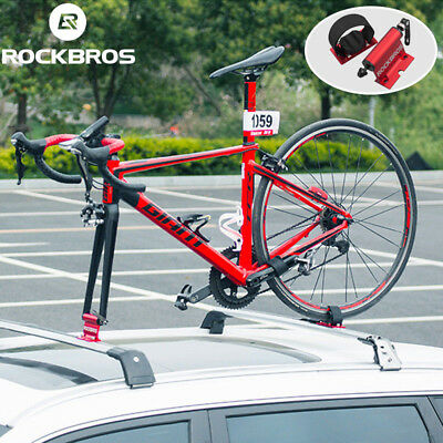Fork Mount Roof Rack (ROCKBROS Bicycle Car Roof Rack Carrier Quick-release Alloy Fork lock Mount)